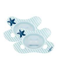 Difrax Dental fopspeen newborn (2 stuks) blauw, Blauw