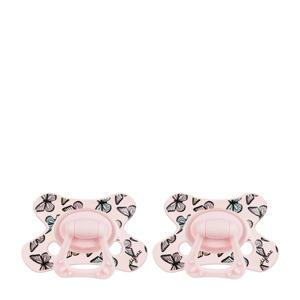 Dental fopspeen 6+ mnd (2 stuks) roze