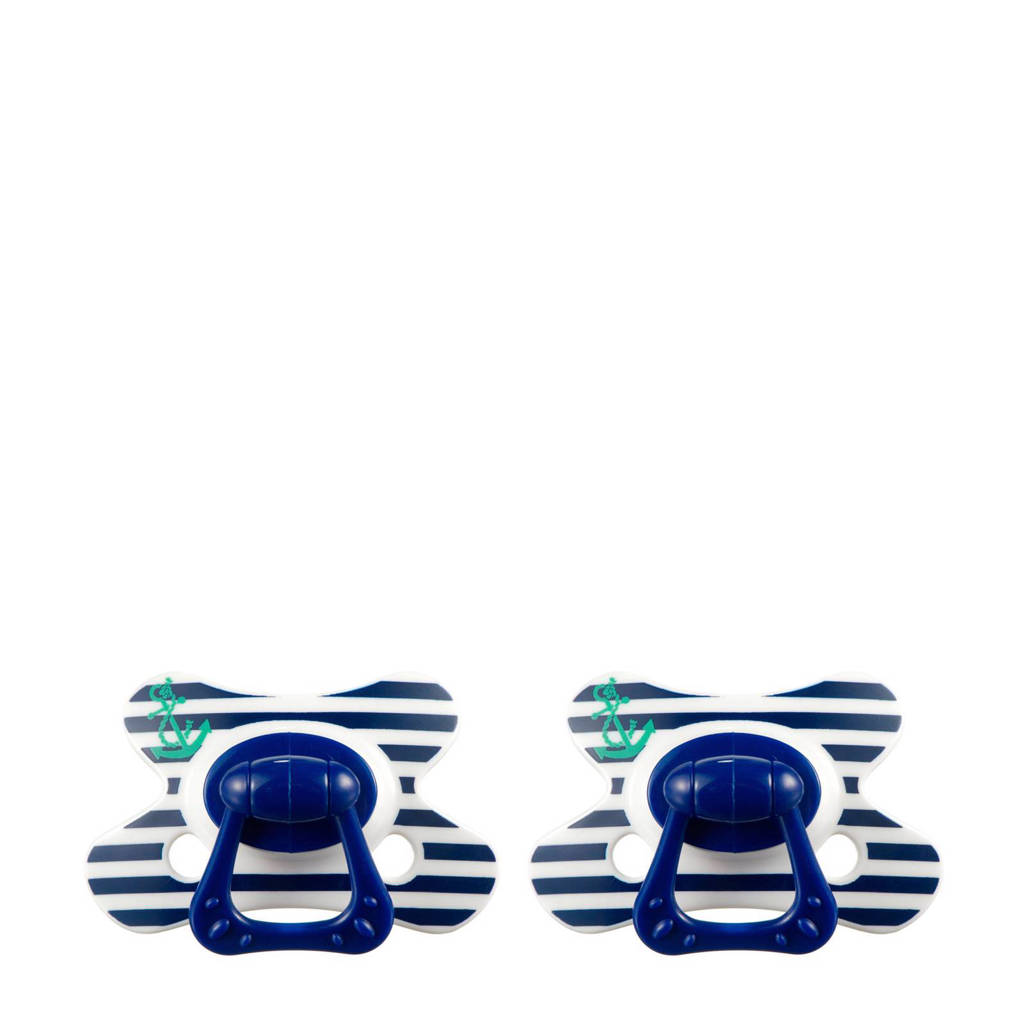 Difrax Dental fopspeen 12+ mnd (2 stuks) blauw, Blauw