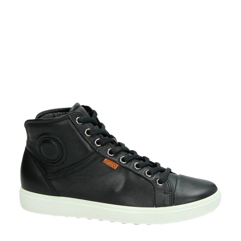 Ecco  Comfort leren sneakers Soft 7, Zwart