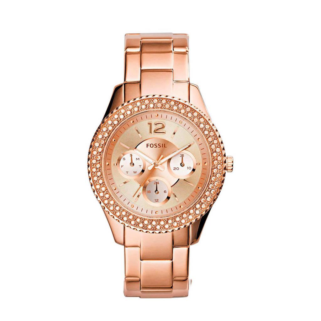 Fossil horloge, rosegoudkleurig