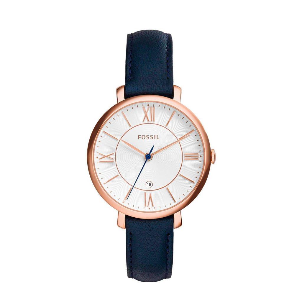 Fossil Jacqueline Dames Horloge ES3843, Blauw