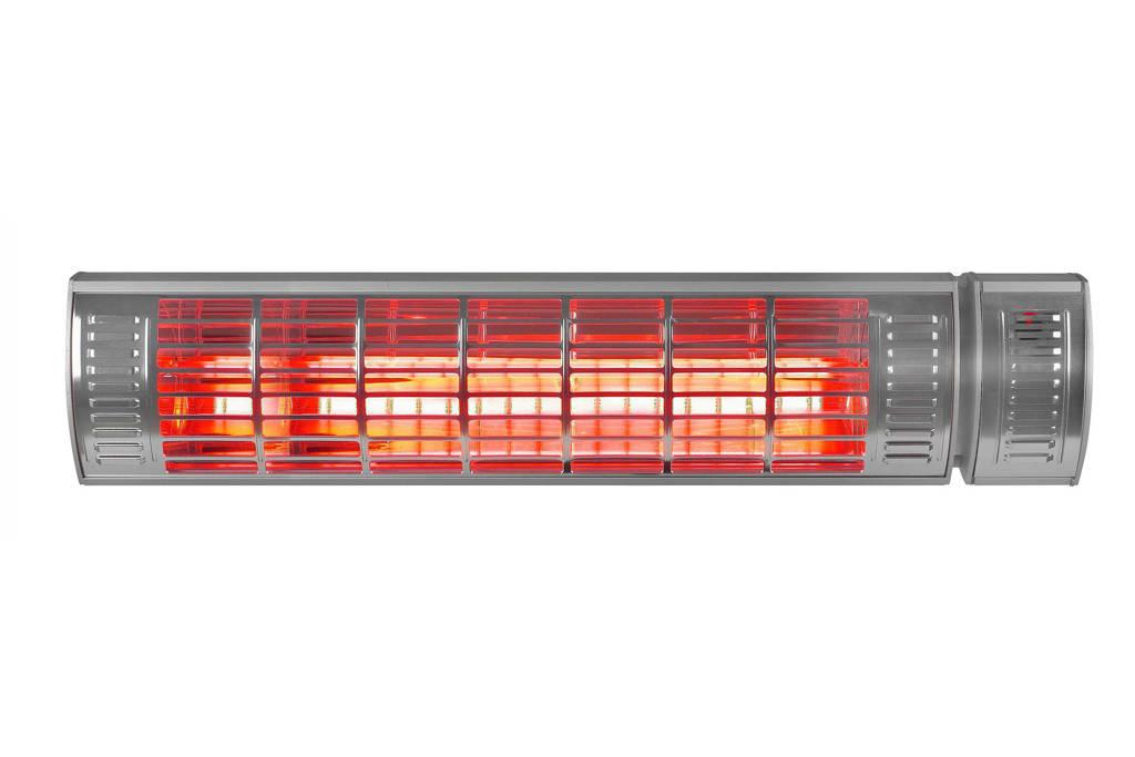 Eurom terrasverwarmer Golden 2500 Ultra RCD (incl. afstandsbediening), Zilver