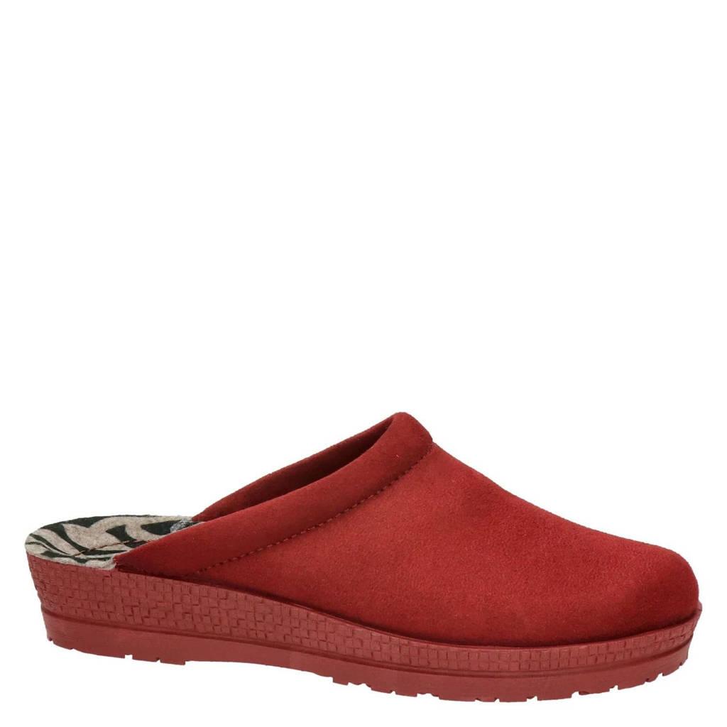Rohde pantoffels rood, Rood