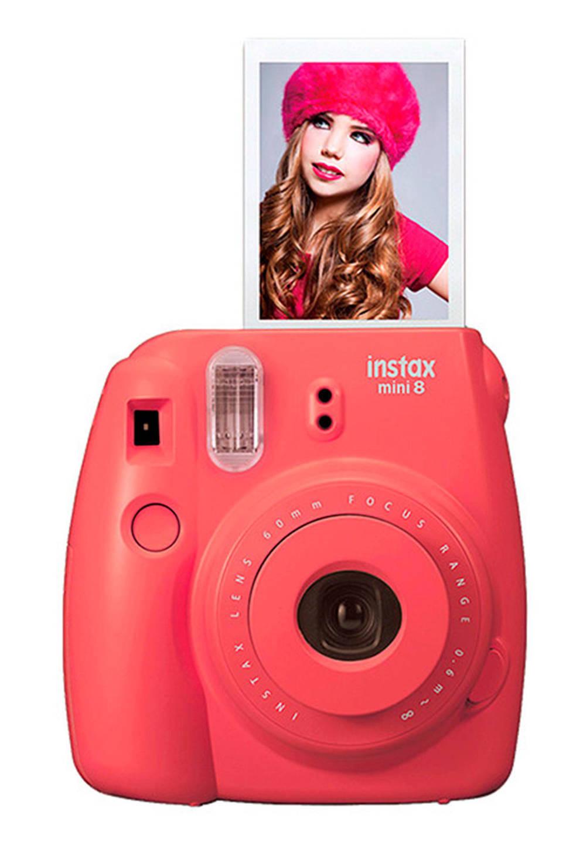 Fujifilm Instax Mini 8 camera, Rood