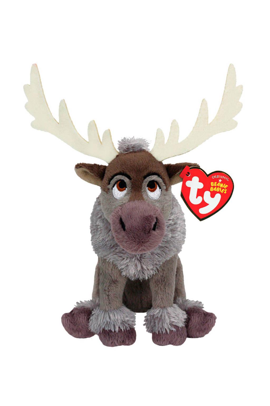 Disney Frozen Sven met geluid 20 cm interactieve knuffel, Bruin