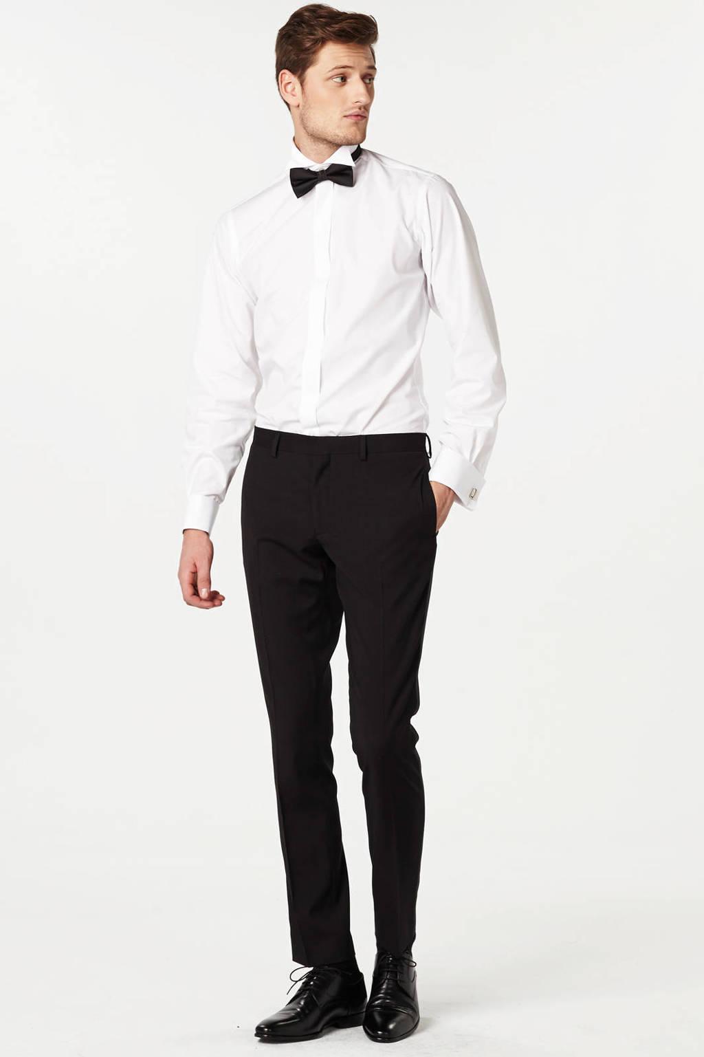 WE Fashion slim fit pantalon, Black Uni