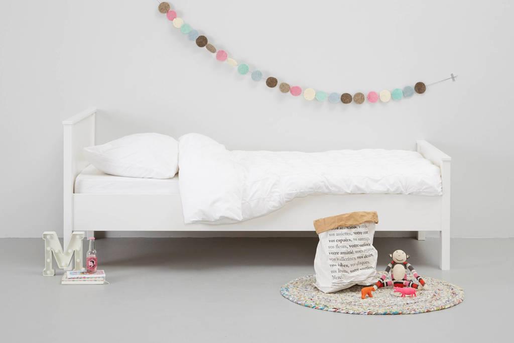 Woood Bed Jade (90x200 cm), Wit