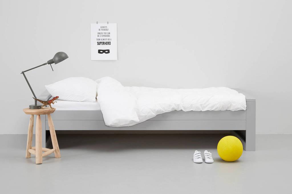 Woood Bed Dennis (90x200 cm), Betongrijs