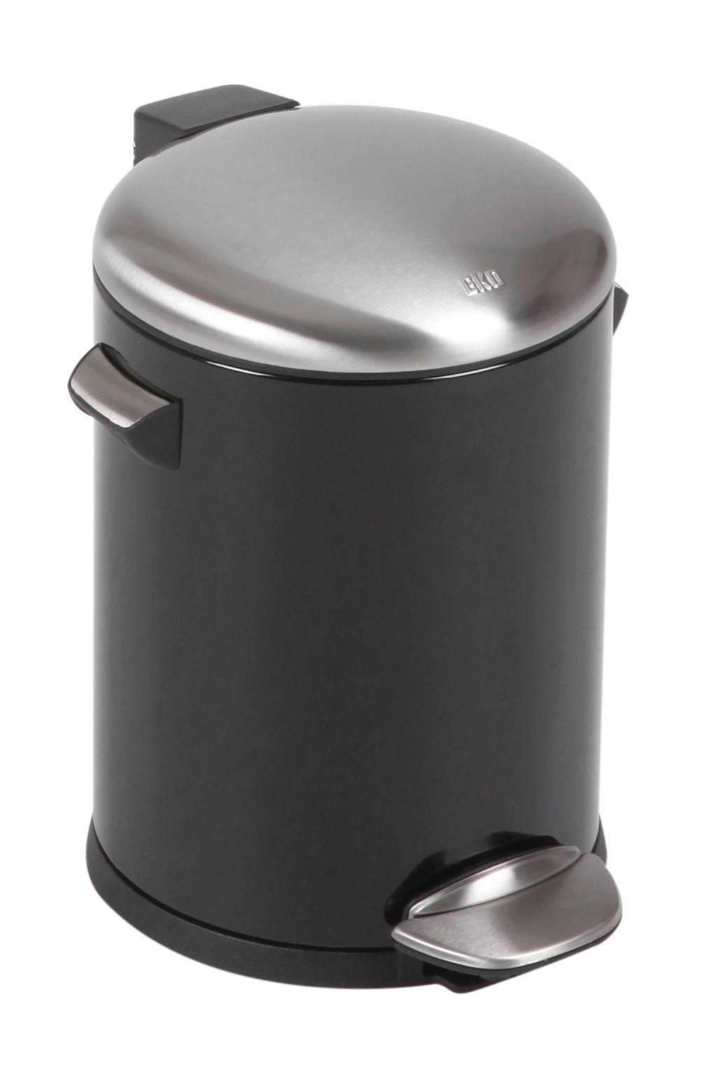 EKO Belle Deluxe 5 liter pedaalemmer, Zwart