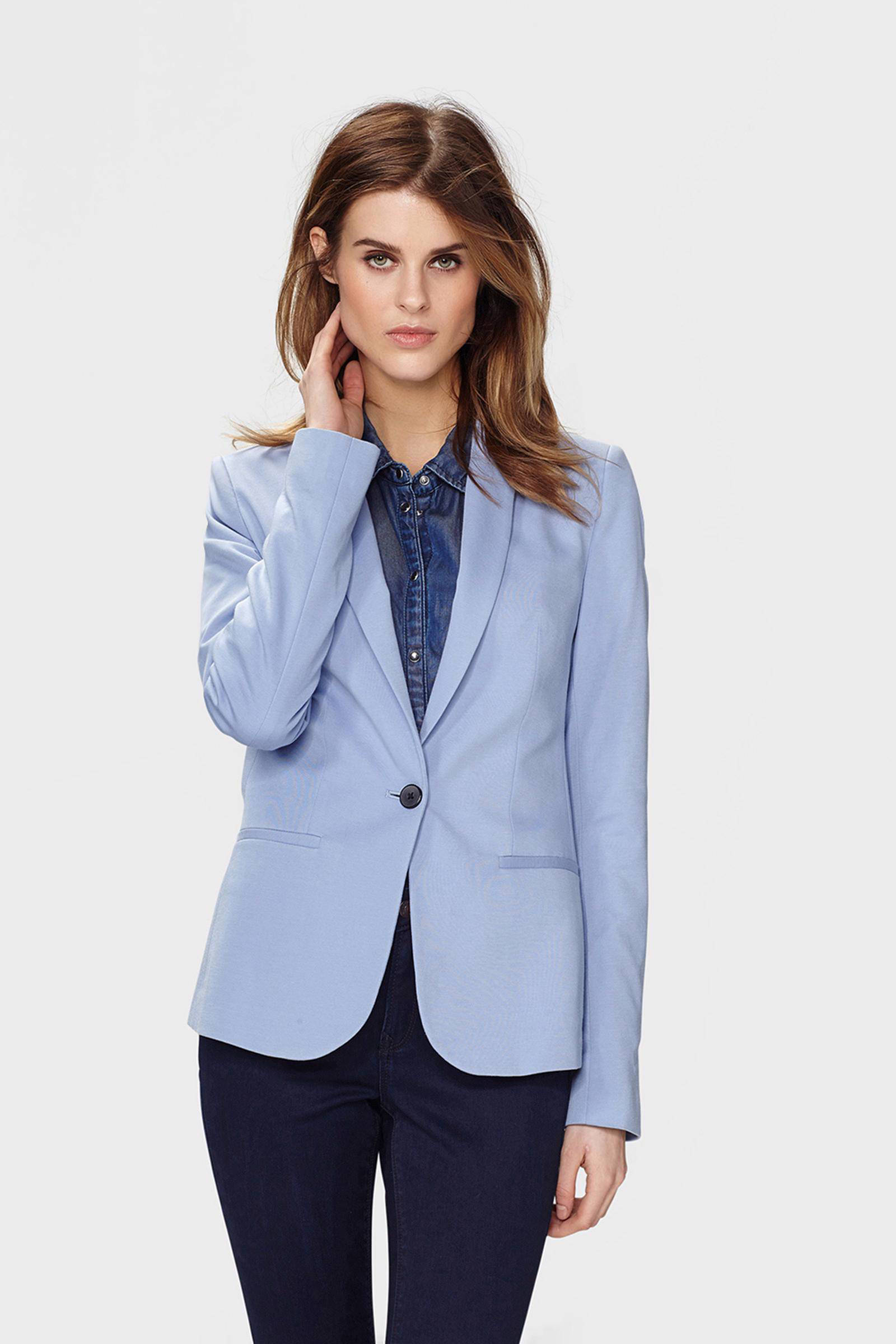 WE Fashion jersey blazer lavendel | wehkamp
