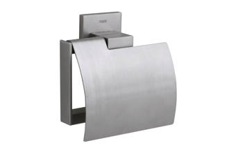 Items toiletrolhouder met klep