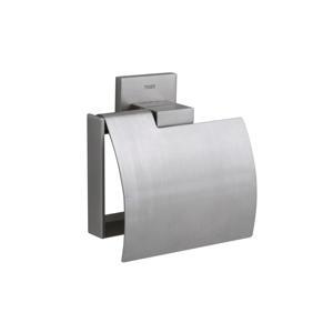 Items toiletrolhouder met klep  zilver