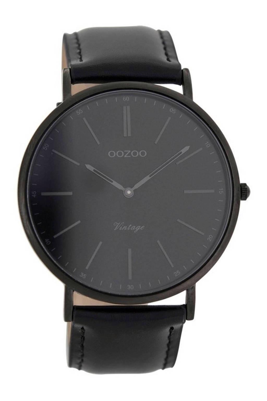 OOZOO Vintage horloge - C7301, Zwart
