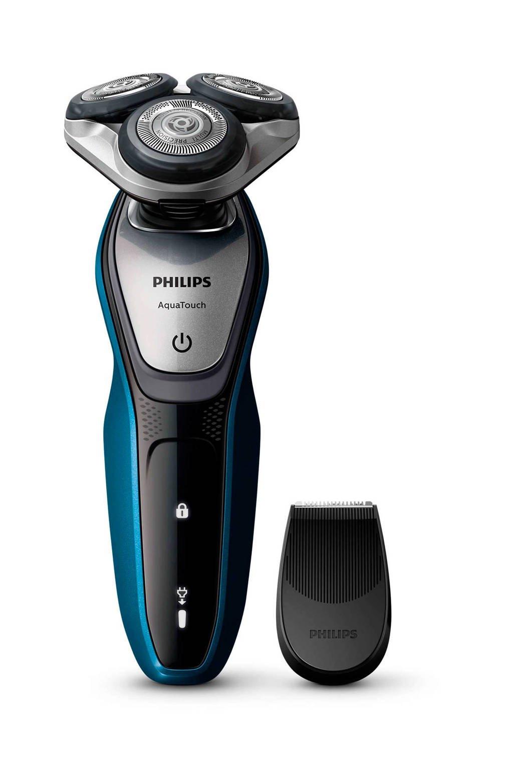 Philips S5420/06 AquaTouch scheerapparaat (nat/droog scheren), Zwart;Blauw;Zilver