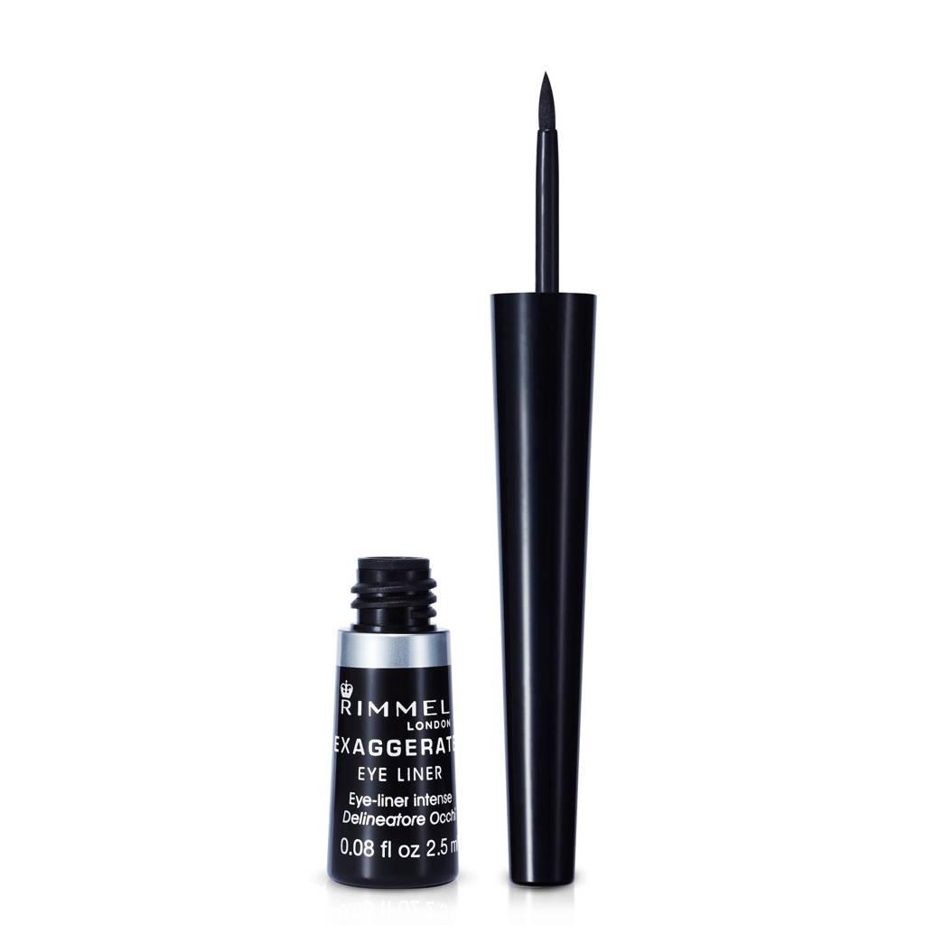 Rimmel London Exaggerate eyeliner - 001 Black, Zwart
