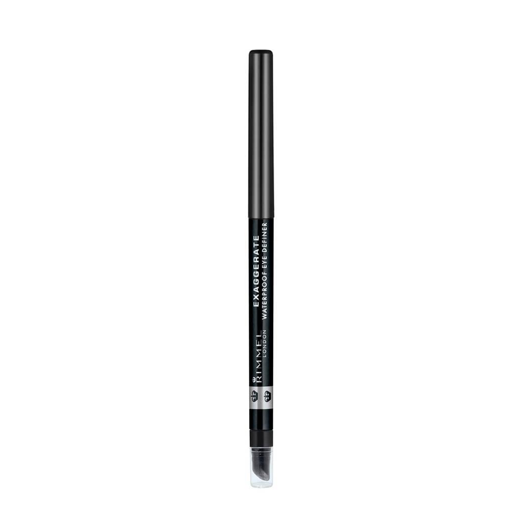 Rimmel London Exaggerate Full Colour Eye Definer oogpotlood - 261 Black/Noir, Zwart