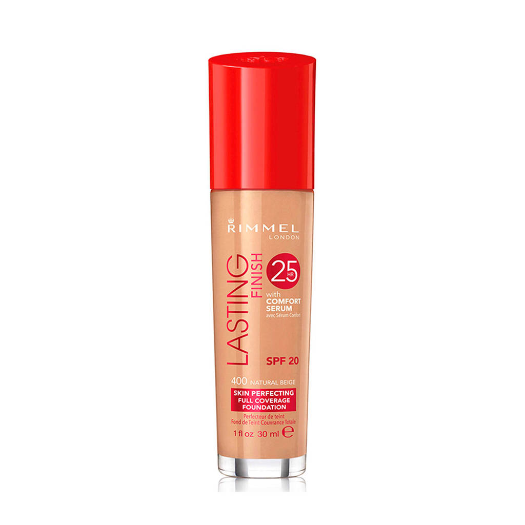 Rimmel London Lasting Finish Foundation - Natural Beige - Beige, 400 Natural Beige