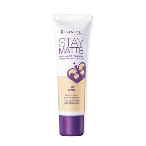 Rimmel Stay Matte Liquid Mousse Foundation 100 Ivory 30ml