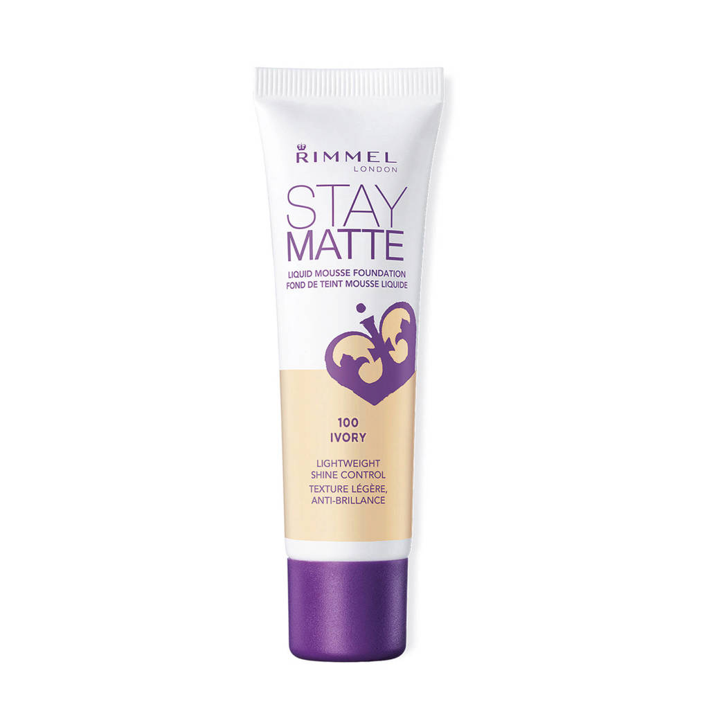 Rimmel London Stay Matte Liquid foundation - 100 Ivory