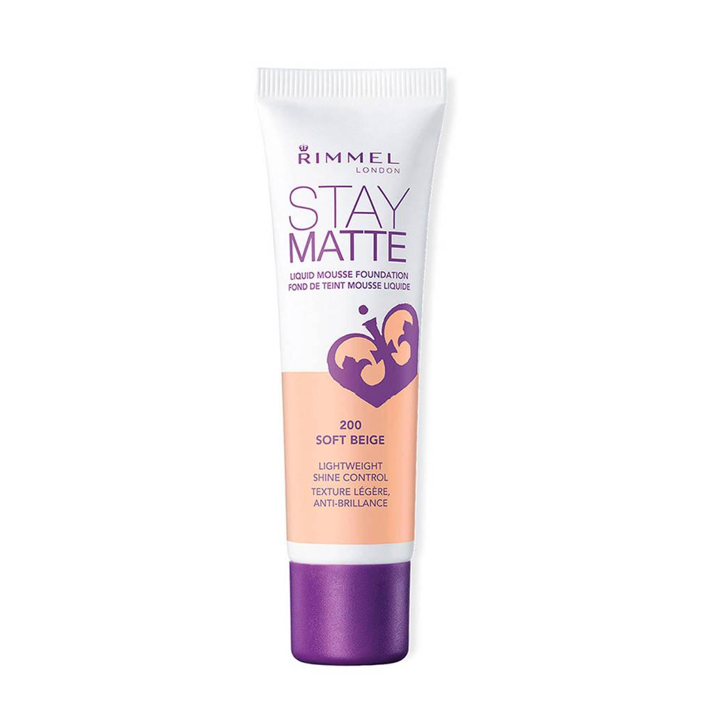 Rimmel London Stay Matte Liquid foundation - 200 Soft Beige