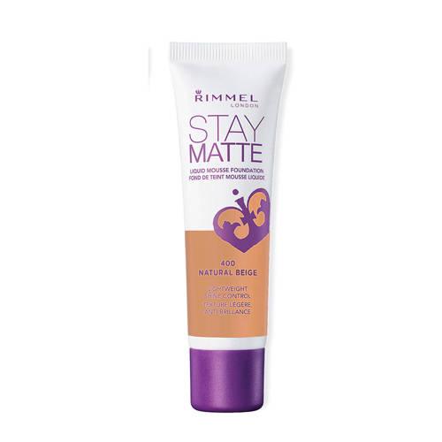 Rimmel Stay Matte Liquid Mousse Foundation 400 Natural Beige 30ml