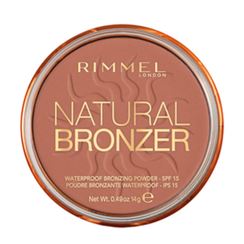 Rimmel London Natural Bronzer Powder 26 Sun Kissed, 026 Sun Kissed