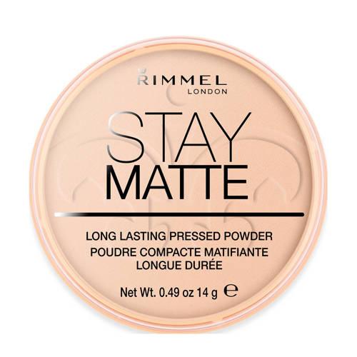 Rimmel Stay Matte Pressed Powder gezichtspoeder 003 Peach Glow