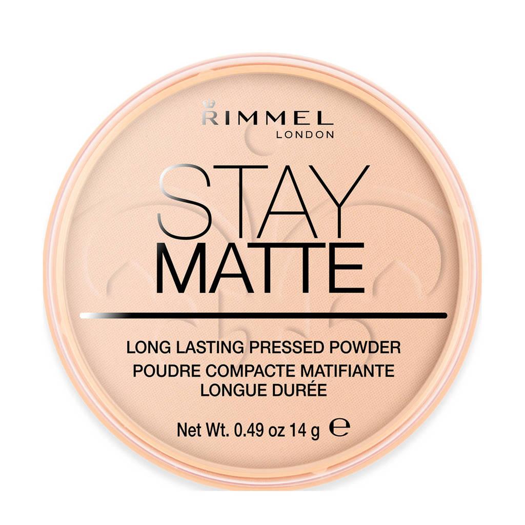 Rimmel London Stay Matte Pressed Powder - Peach Glow - Beige, 003 Peach Glow