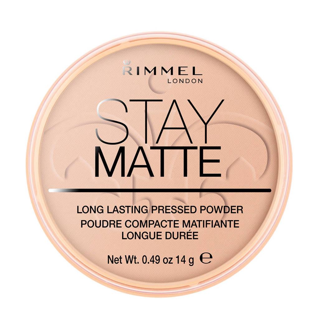 Rimmel London Stay Matte Pressed Powder - Silky Beige - Beige, 005 Silky Beige