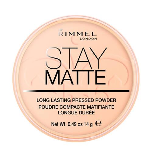 Rimmel Stay Matte Pressed Powder gezichtspoeder 006 Warm Beige