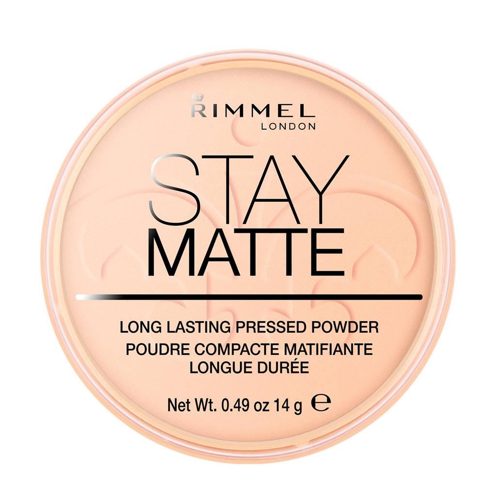 Rimmel London Stay Matte Pressed Powder - Warm Beige - Beige, 006 Warm Beige