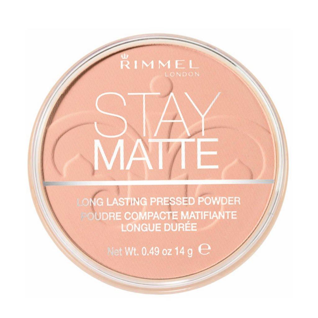 Rimmel London Stay Matte Pressed Powder gezichtspoeder - 008 Cashmere