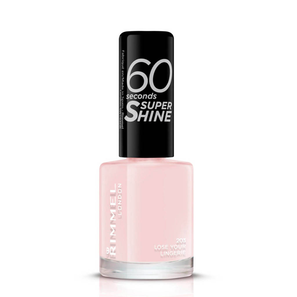 Rimmel London 60 Seconds Super Shine nagellak - 203 Lose Your Lingerie