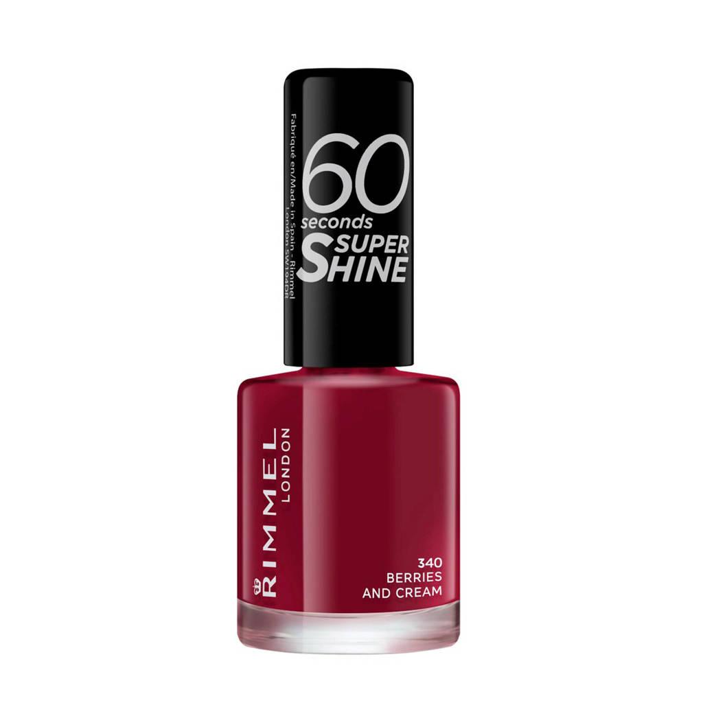 Rimmel London 60 Seconds Super Shine nagellak - 340 Berries And Cream