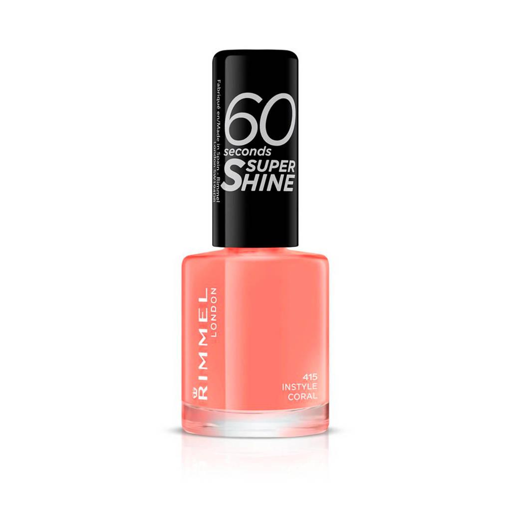Rimmel London 60 Seconds Super Shine nagellak - 415 Instyle Coral