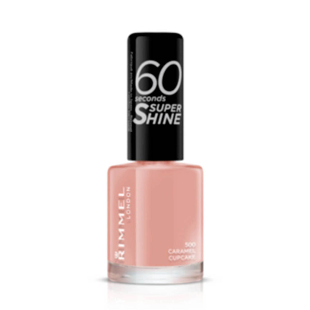 Rimmel London 60 Seconds Super Shine nagellak - 500 Caramel Cupcake