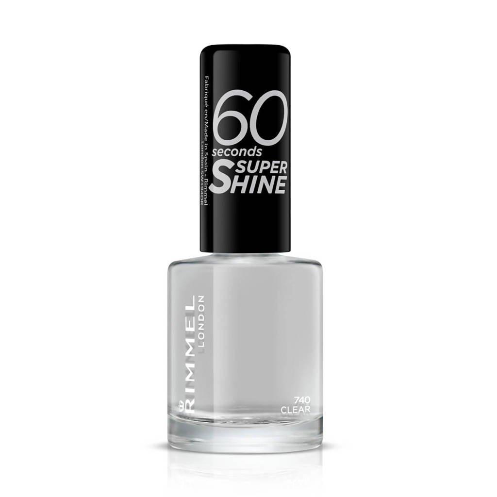 Rimmel London 60 seconds SuperShine Nagellak - 740 Transparant, 740 Clear