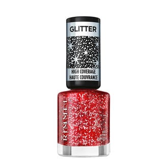 Glitter High Coverage nagellak - 2 Ruby Crush