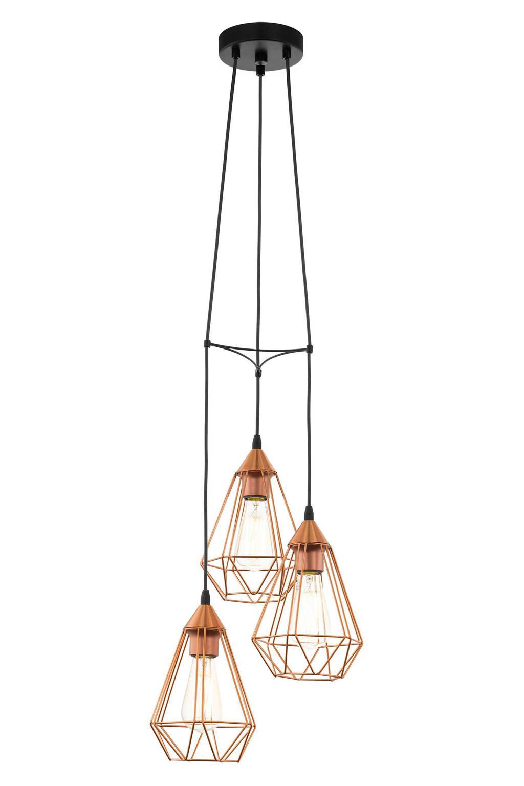 EGLO hanglamp Tarbes, Zwart/koper