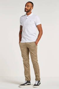 BOSS Casual Prime slim fit polo, Wit