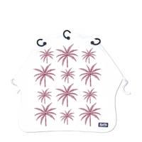 Kurtis beschermdoek Palm Trees paars, Wit/paard