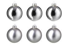 Glazen kerstballen (Ø8 cm) (set van 6)