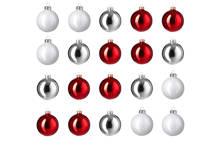 Glazen kerstballen (Ø6 cm) (set van 20)