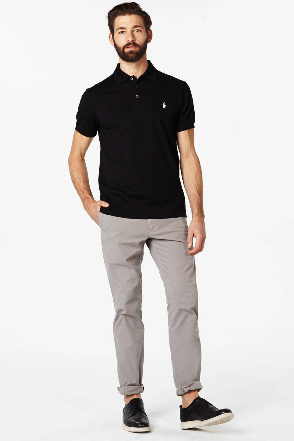 POLO Ralph Lauren slim fit stretch polo, Zwart