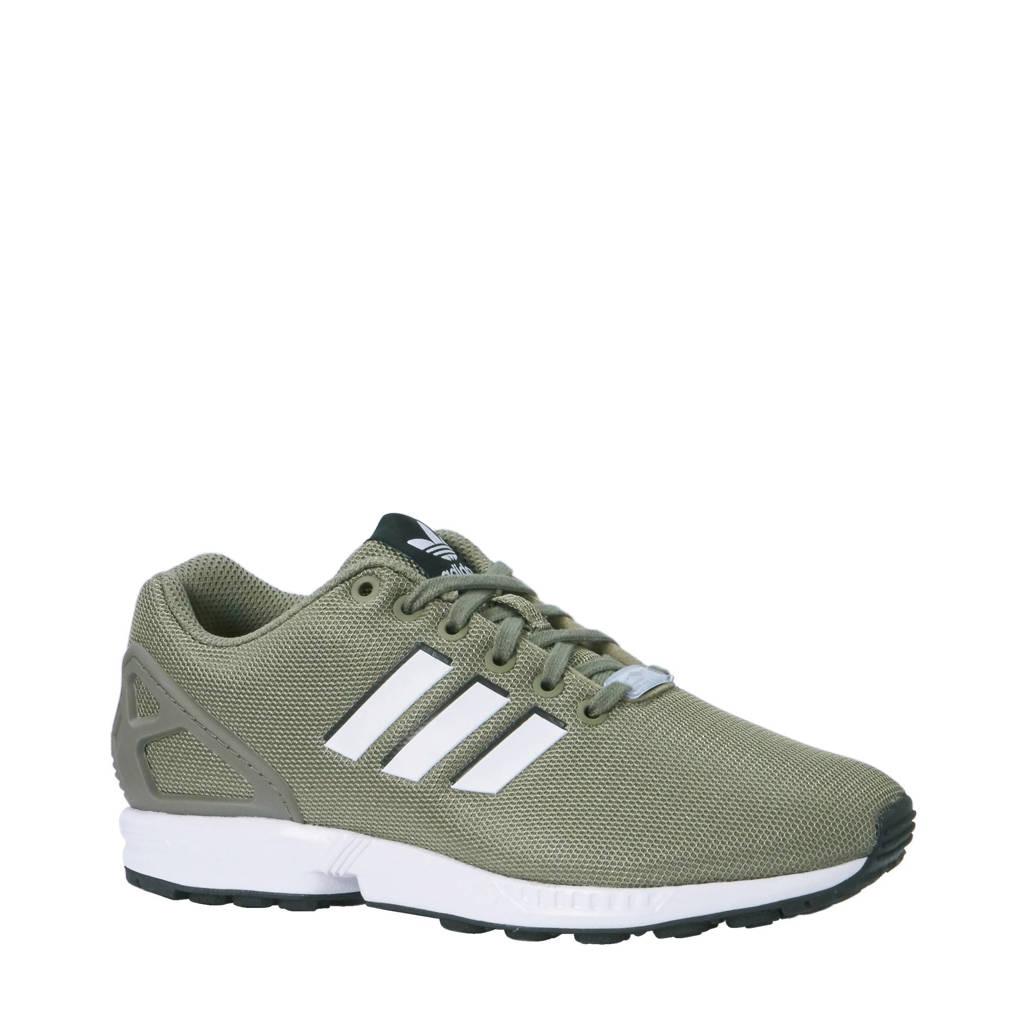 adidas Originals   ZX Flux sneakers, Olijfgroen/wit/zwart