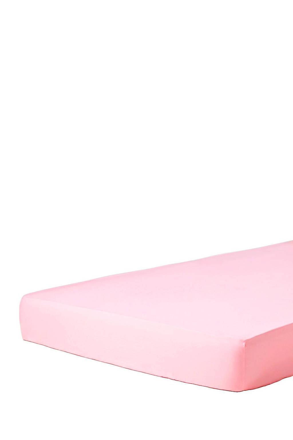 Essenza katoensatijnen hoeslaken Roze