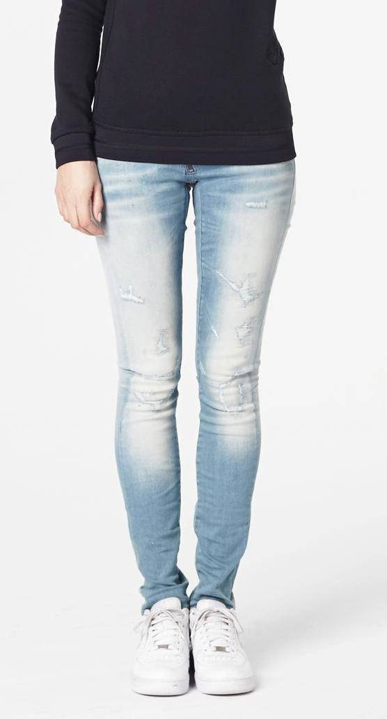 Skinny Jeans Zip Lichtblauw