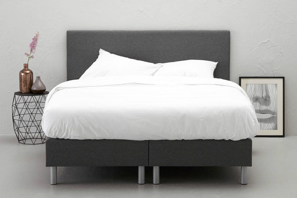 whkmp's own complete boxspring Vallentuna, 140x200, Donker grijs