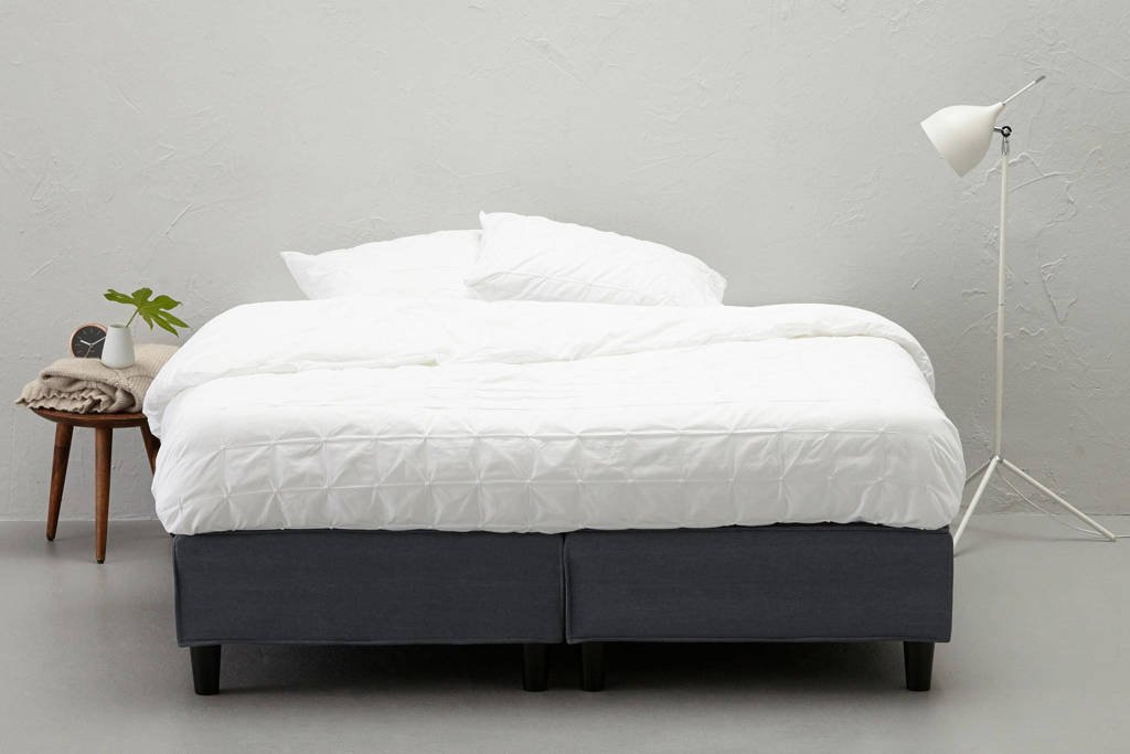 whkmp's own boxspring Falun, 160x200, Denim blue